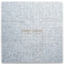 carrara white 3 4x3 4 square mosaic tile honed marble from italy