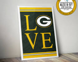 Green Bay Packers Bedroom Ideas Packers Wall Art Etsy