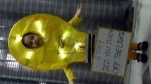 yellow fancy dress competition kavya as a light bulb