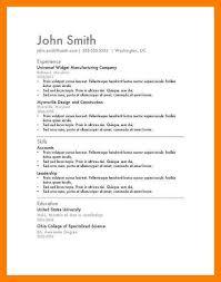 easy resume 9 easy resume format xavierax