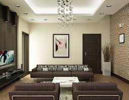 sweet modern living room design with dark brown furniture and