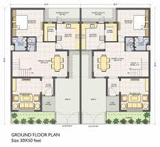 2 house plan for 35 feet by 50 plot plot size 195 square yards