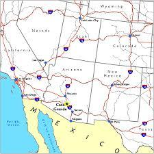 Arizona On Map Arizona Map Casa Grande