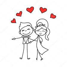 dessin mariage dessin dessin animé amoureux de caractère de mariage image