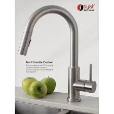 pulldown kitchen faucets steel one handle pulldown kitchen faucet k131 modena