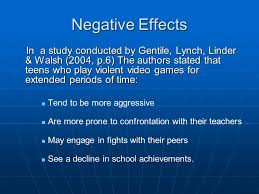 Effect of Video Games on Child Development   Developmental      The Negative Effects of Video Game Addiction