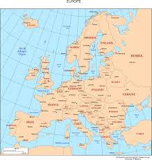 Map Of Us And Europe by Political Europe Map With Countries And Capitals New Zone