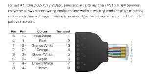 cr 01a rj45 to terminal rj45 terminal modular plug