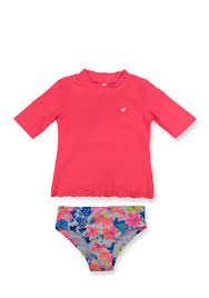 Infant Atlanta Braves Clothes Carter U0027s 2 Piece Solid Rash Guard And Floral Bottom Swimsuit
