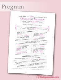 how to do a wedding program programs your fairytale wedding