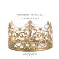amazon com gold crown cake topper vintage crown small gold amazon com gold crown cake topper vintage crown small gold wedding cake top princess cake the queen of crowns kitchen dining