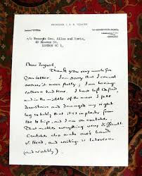 a two page hand written letter from j r r tolkien with hand