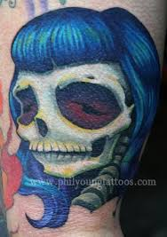 phil gallery tattoos pin up bettie page skull