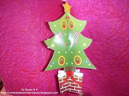 cards crafts kids projects pop up christmas tree cards