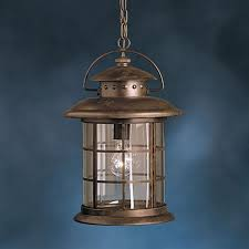 kichler outdoor lighting lowes shop kichler rustic 17 75 in rustic outdoor pendant light at lowes com