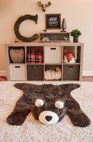 Rug For Baby Nursery Bear Rug Faux Bear Rug Woodland Nursery Bear Baby Room