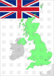 Map Of Scotland And England by Flag And Map Contour Of Great Britain Ireland Scotland And