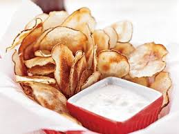 Cape Cod Russet Potato Chips - potato chips with blue cheese dip recipe myrecipes