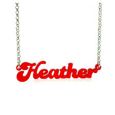 acrylic name necklace acrylic name necklaces colors that match your style