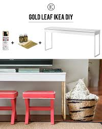 ikea console hack diy gold leaf ikea console table ikea console table console