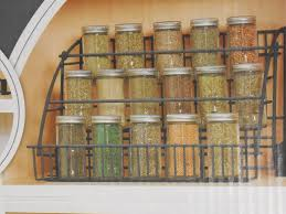 Wall Mount Spice Rack With Jars Kitchen Pull Down Spice Rack Wall Mounted Spice Cabinet Mason