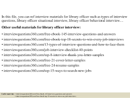 top 10 library officer interview questions and answers