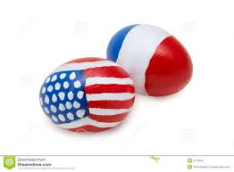 French And American Flags Easter American U0026 French Eggs Stock Photo Image 2115006