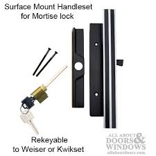 Keyed Patio Door Handle 3 4 Thick Door Keyed Patio Door Handle Retro Black Chrome