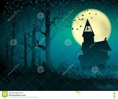 light halloween background halloween hut moon light trees mystical night stump background c