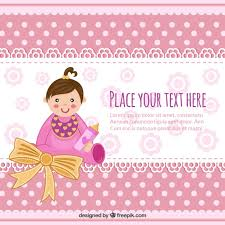 baby shower invitation with baby vector free download