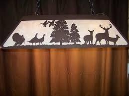 cut steel turkey whitetail deer lrg pool table light lamp hunt