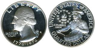 1776 to 1976 quarter one day my found a quarter dollar in the southern swlands at
