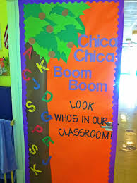 preschool classroom door i love chica chica boom boom and