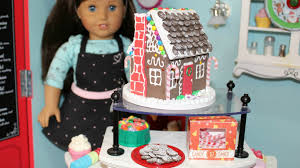 diy american doll gingerbread house youtube