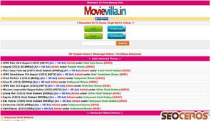 movievilla in movievilla in review seo and social media analysis from seoceros