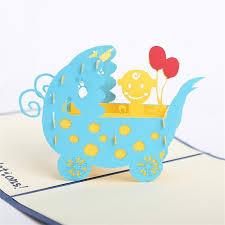 doreenbeads creative 3d cards invitations newborn baby blessing