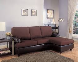 brown microfiber fabric and leather like vinyl upholstered