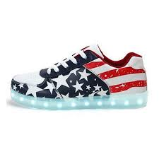 sneakers that light up on the bottom led shoes mens american flag low top