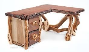 natural wood desks rustic organic wood desk woodland creek