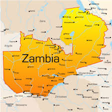 map of zambia zambia map showing attractions accommodation