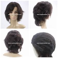 are there any full wigs made from human kinky hair that is styled in a two strand twist for black woman lx0278 full machine made human hair wigs for women