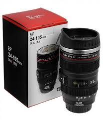 excluzy camera lens shaped black coffee tea mug gifts for