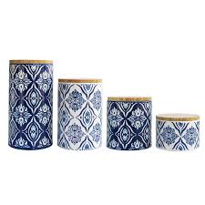 blue kitchen canister set design guild pirouette 4 kitchen canister set reviews