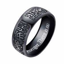 silver steel rings images Stainless steel ring for men arabic calligraphy shahda rich jpg