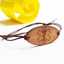 medical id bracelets for women medical id bracelets in wood medical alert bracelet
