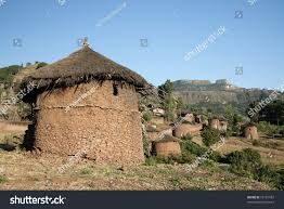 Adobe Homes by Traditional African Adobe Mud Homes Lalibela Stock Photo 75181987