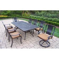 Stackable Aluminum Patio Chairs by Oakland Living Aluminum Patio Dining Set 84x42