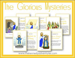 printable rosary cards for catholic by the kennedy adventures