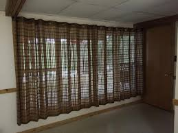 Bamboo Curtains For Windows Bamboo Grommet Window Panels Blinds