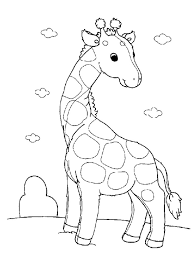 giraffe outline colouring pages page 2 for printable giraffe